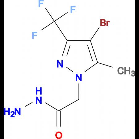 2-(4-Bromo-5-methyl-3-(trifluoromethyl)-1H-pyrazol-1-yl)acetohydrazide