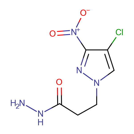 3-(4-Chloro-3-nitro-1H-pyrazol-1-yl)propionic hydrazide