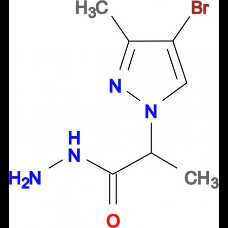 2-(4-Bromo-3-methyl-1H-pyrazol-1-yl)propionic acid hydrazide