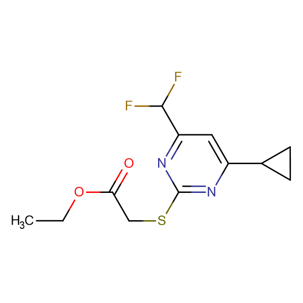 (4-Cyclopropyl-6-difluoromethyl-pyrimidin-2-ylsulfanyl)-acetic acid ethyl ester