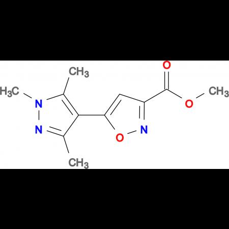 5-(1,3,5-Trimethyl-1 H -pyrazol-4-yl)-isoxazole-3-carboxylic acid methyl ester