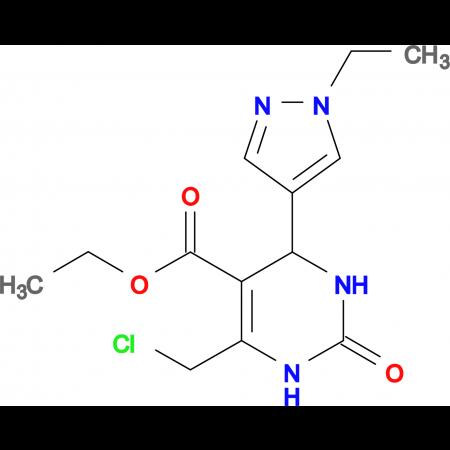 6-Chloromethyl-4-(1-ethyl-1 H -pyrazol-4-yl)-2-oxo-1,2,3,4-tetrahydro-pyrimidine-5-carboxylic acid ethyl ester