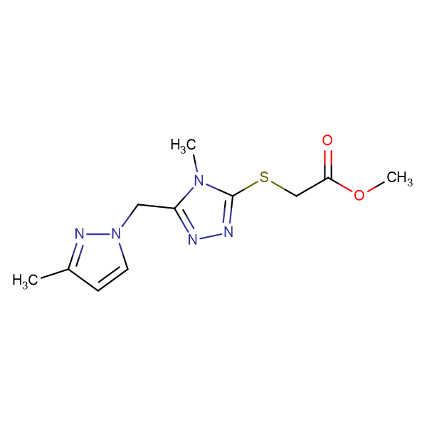 [4-Methyl-5-(3-methyl-pyrazol-1-ylmethyl)-4 H -[1,2,4]triazol-3-ylsulfanyl]-acetic acid methyl ester