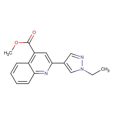 2-(1-Ethyl-1 H -pyrazol-4-yl)-quinoline-4-carboxylic acid methyl ester