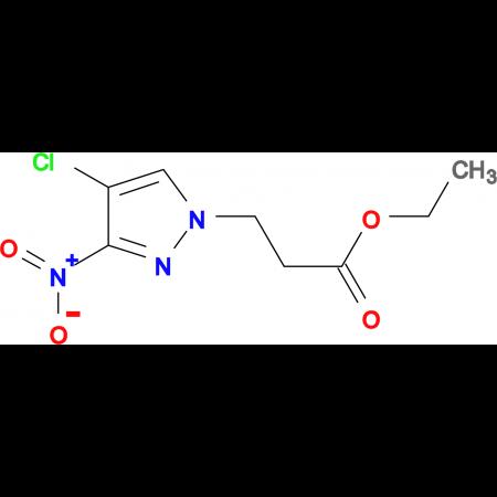 3-(4-Chloro-3-nitro-pyrazol-1-yl)-propionic acid ethyl ester