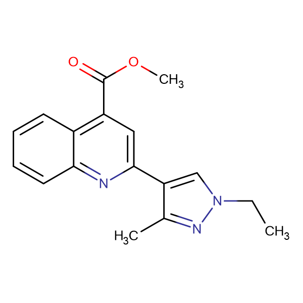 2-(1-Ethyl-3-methyl-1 H -pyrazol-4-yl)-quinoline-4-carboxylic acid methyl ester