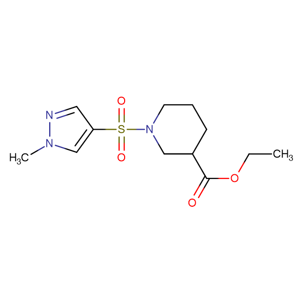 1-(1-Methyl-1 H -pyrazole-4-sulfonyl)-piperidine-3-carboxylic acid ethyl ester