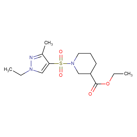 1-(1-Ethyl-3-methyl-1 H -pyrazole-4-sulfonyl)-piperidine-3-carboxylic acid ethyl ester