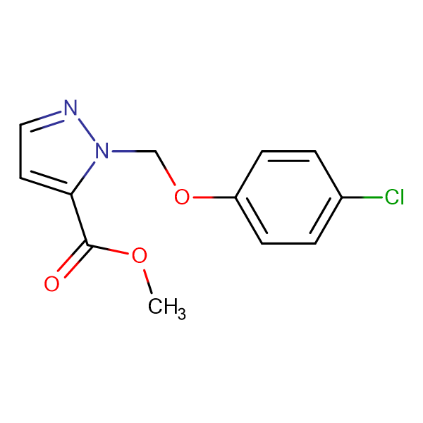 2-(4-Chloro-phenoxymethyl)-2 H -pyrazole-3-carboxylic acid methyl ester