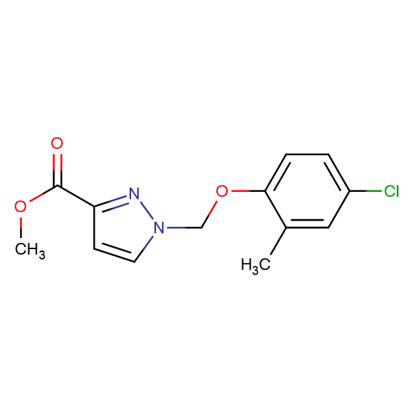 1-(4-Chloro-2-methyl-phenoxymethyl)-1 H -pyrazole-3-carboxylic acid methyl ester