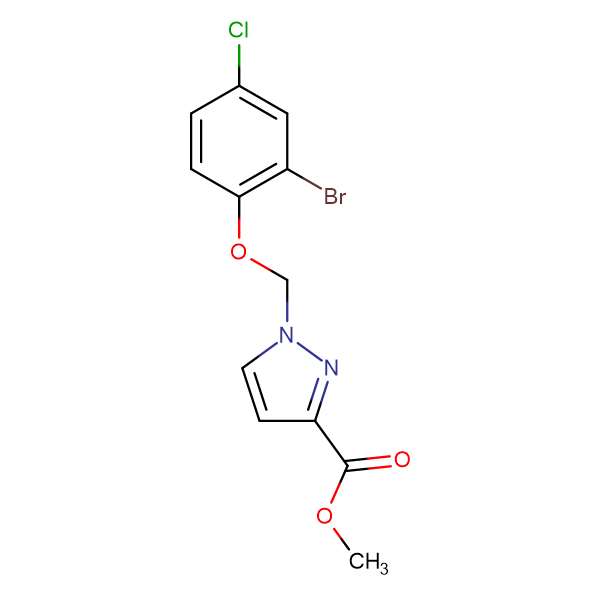 1-(2-Bromo-4-chloro-phenoxymethyl)-1 H -pyrazole-3-carboxylic acid methyl ester