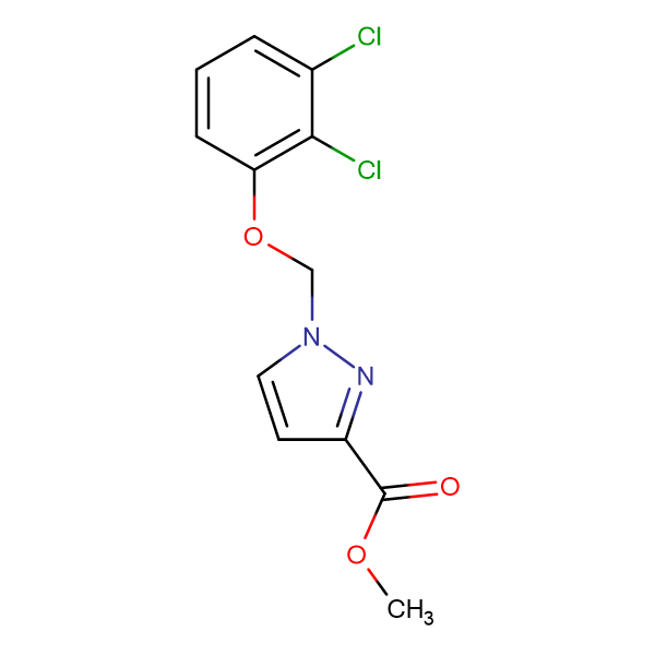 1-(2,3-Dichloro-phenoxymethyl)-1 H -pyrazole-3-carboxylic acid methyl ester