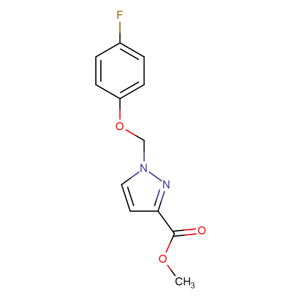 1-(4-Fluoro-phenoxymethyl)-1 H -pyrazole-3-carboxylic acid methyl ester