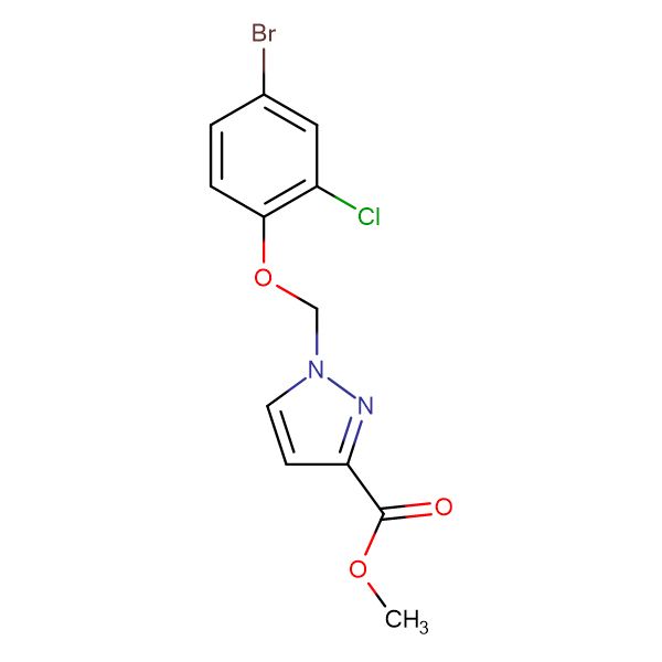 1-(4-Bromo-2-chloro-phenoxymethyl)-1 H -pyrazole-3-carboxylic acid methyl ester
