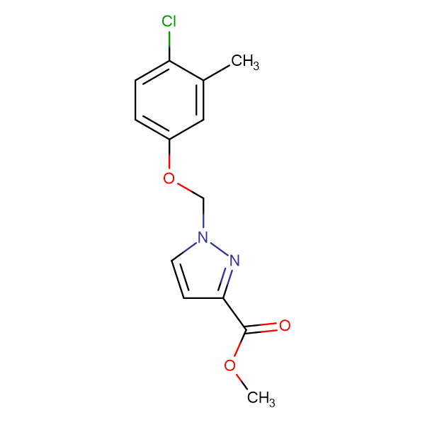 1-(4-Chloro-3-methyl-phenoxymethyl)-1 H -pyrazole-3-carboxylic acid methyl ester