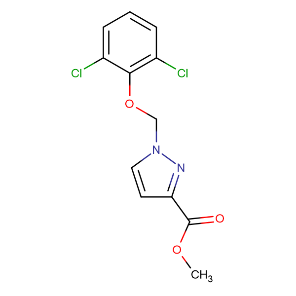 1-(2,6-Dichloro-phenoxymethyl)-1 H -pyrazole-3-carboxylic acid methyl ester