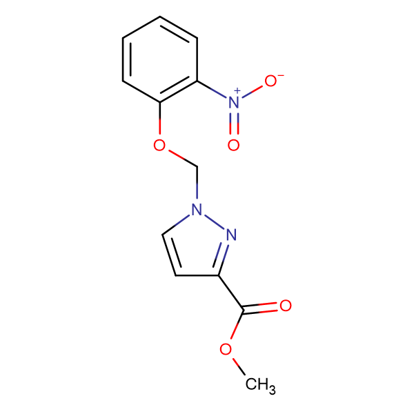 1-(2-Nitro-phenoxymethyl)-1 H -pyrazole-3-carboxylic acid methyl ester