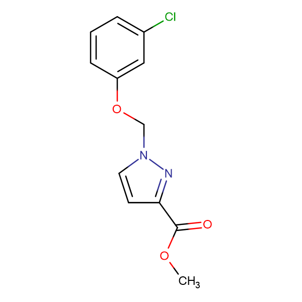 1-(3-Chloro-phenoxymethyl)-1 H -pyrazole-3-carboxylic acid methyl ester