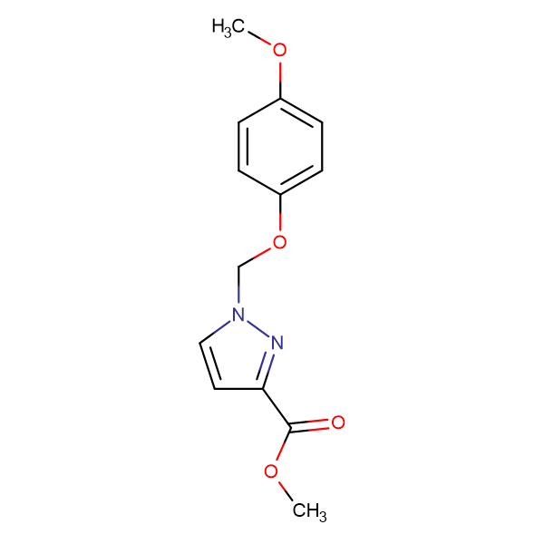 1-(4-Methoxy-phenoxymethyl)-1 H -pyrazole-3-carboxylic acid methyl ester
