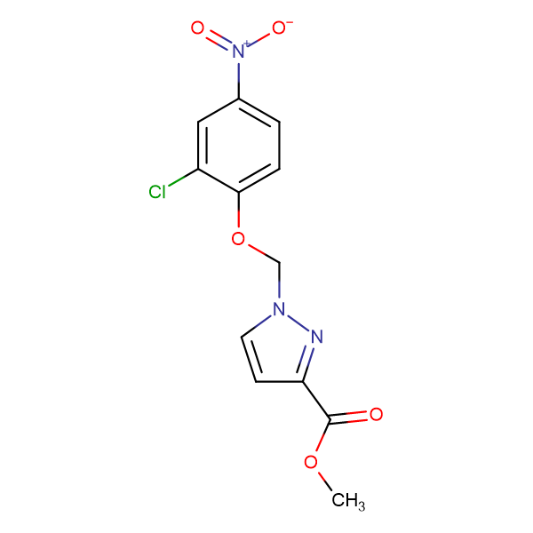 1-(2-Chloro-4-nitro-phenoxymethyl)-1 H -pyrazole-3-carboxylic acid methyl ester