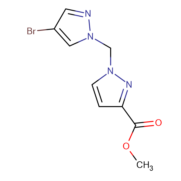 1-(4-Bromo-pyrazol-1-ylmethyl)-1 H -pyrazole-3-carboxylic acid methyl ester