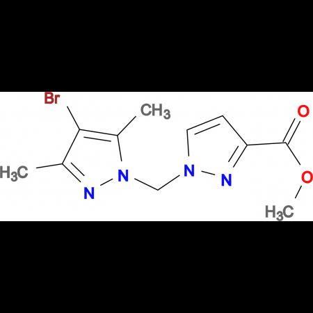 1-(4-Bromo-3,5-dimethyl-pyrazol-1-ylmethyl)-1 H -pyrazole-3-carboxylic acid methyl ester