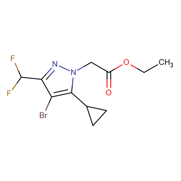 (4-Bromo-5-cyclopropyl-3-difluoromethyl-pyrazol-1-yl)-acetic acid ethyl ester