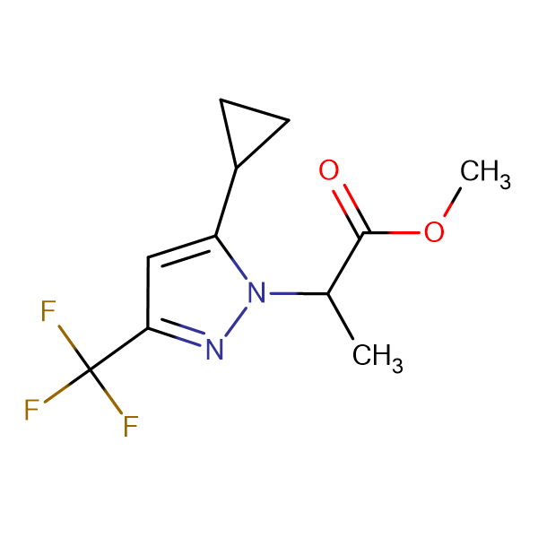2-(5-Cyclopropyl-3-trifluoromethyl-pyrazol-1-yl)-propionic acid methyl ester