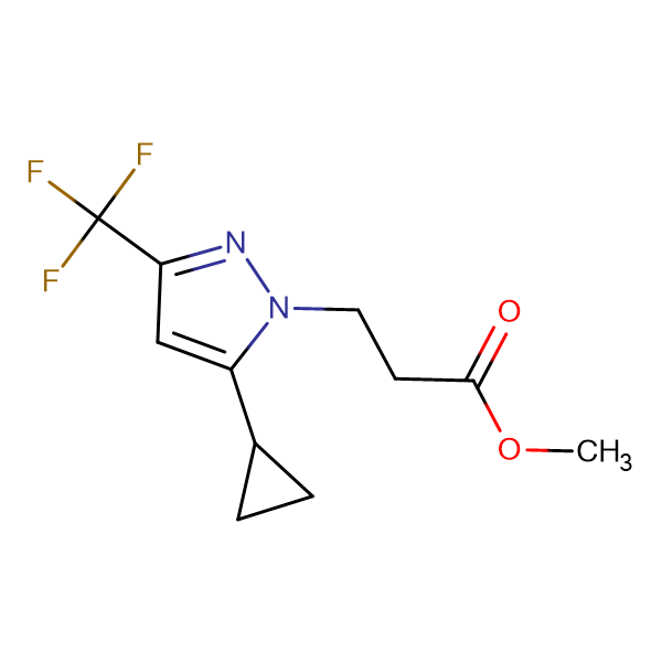 3-(5-Cyclopropyl-3-trifluoromethyl-pyrazol-1-yl)-propionic acid methyl ester