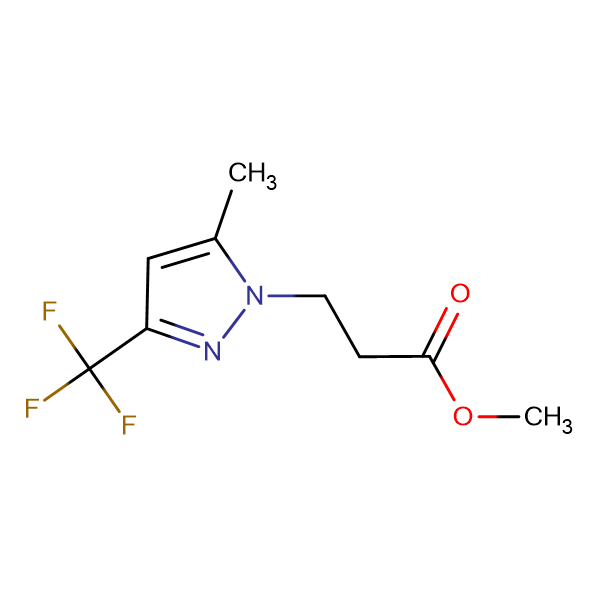 3-(5-Methyl-3-trifluoromethyl-pyrazol-1-yl)-propionic acid methyl ester