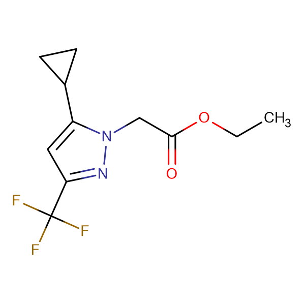 (5-Cyclopropyl-3-trifluoromethyl-pyrazol-1-yl)-acetic acid ethyl ester