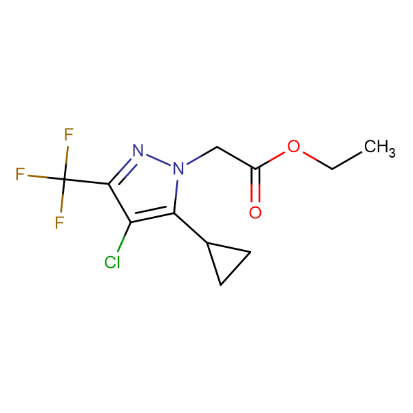 (4-Chloro-5-cyclopropyl-3-trifluoromethyl-pyrazol-1-yl)-acetic acid ethyl ester