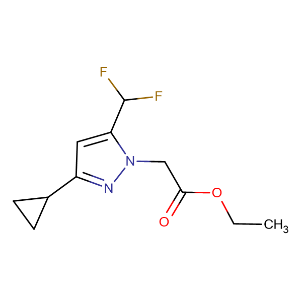 (3-Cyclopropyl-5-difluoromethyl-pyrazol-1-yl)-acetic acid ethyl ester