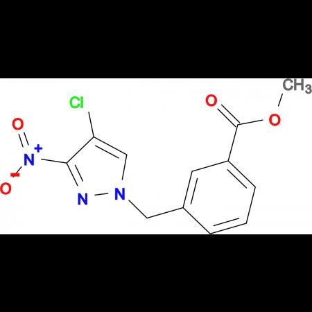 3-(4-Chloro-3-nitro-pyrazol-1-ylmethyl)-benzoic acid methyl ester
