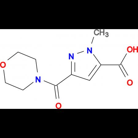 2-Methyl-5-(morpholine-4-carbonyl)-2H-pyrazole-3-carboxylic acid