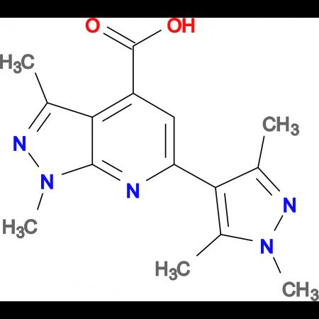 1,3-Dimethyl-6-(1,3,5-trimethyl-1 H -pyrazol-4-yl)-1 H -pyrazolo[3,4- b ]pyridine-4-carboxylic acid