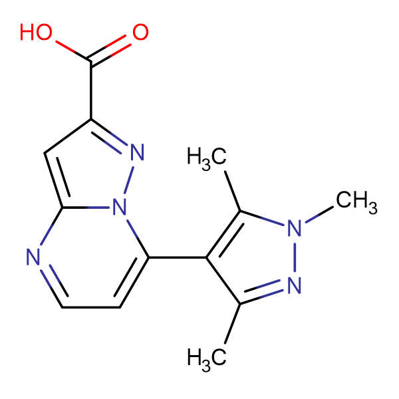 7-(1,3,5-Trimethyl-1 H -pyrazol-4-yl)-pyrazolo[1,5- a ]pyrimidine-2-carboxylic acid