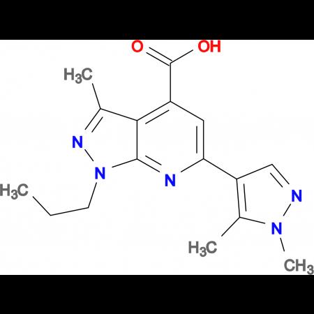 6-(1,5-Dimethyl-1 H -pyrazol-4-yl)-3-methyl-1-propyl-1 H -pyrazolo[3,4- b ]pyridine-4-carboxylic acid