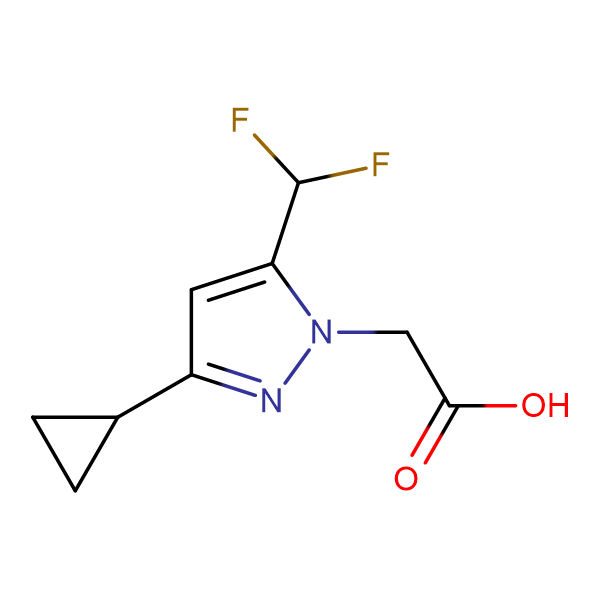 (3-Cyclopropyl-5-difluoromethyl-pyrazol-1-yl)-acetic acid