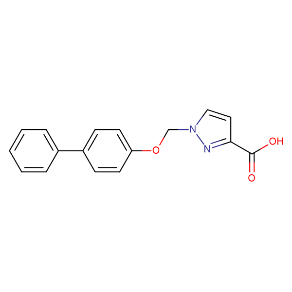 1-(Biphenyl-4-yloxymethyl)-1 H -pyrazole-3-carboxylic acid