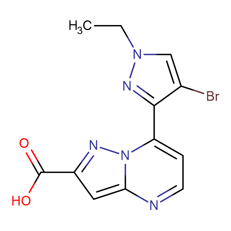 7-(4-Bromo-1-ethyl-1 H -pyrazol-3-yl)-pyrazolo[1,5- a ]pyrimidine-2-carboxylic acid