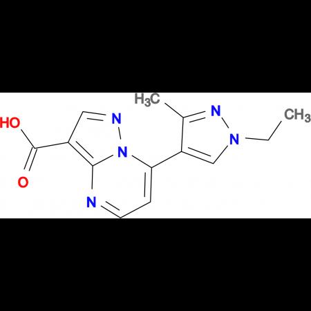 7-(1-Ethyl-3-methyl-1 H -pyrazol-4-yl)-pyrazolo[1,5- a ]pyrimidine-3-carboxylic acid