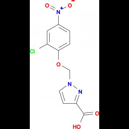 1-(2-Chloro-4-nitro-phenoxymethyl)-1 H -pyrazole-3-carboxylic acid