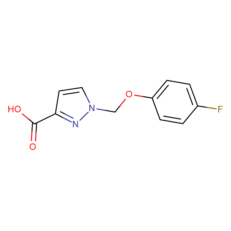 1-(4-Fluoro-phenoxymethyl)-1 H -pyrazole-3-carboxylic acid