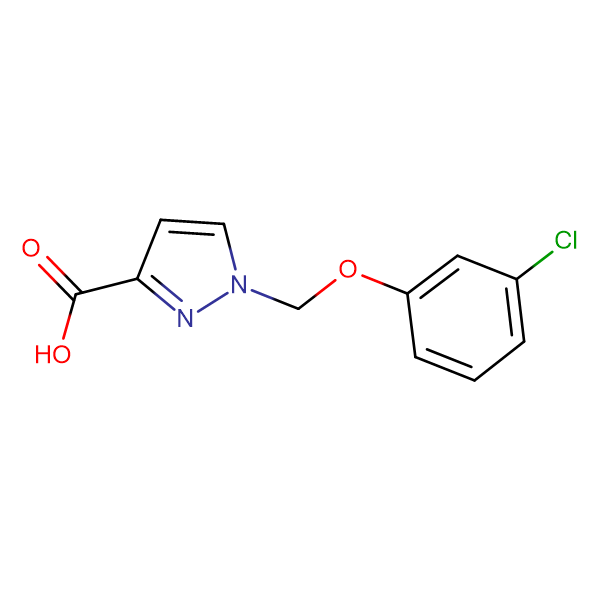 1-(3-Chloro-phenoxymethyl)-1 H -pyrazole-3-carboxylic acid