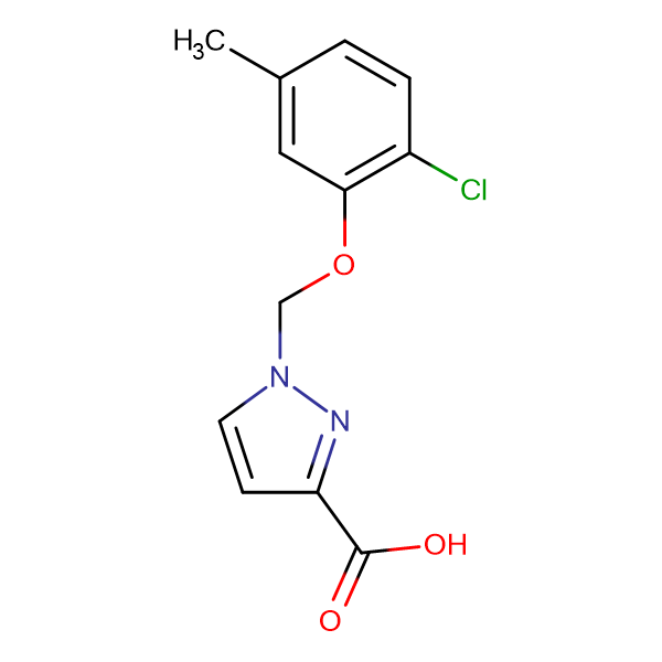 1-(2-Chloro-5-methyl-phenoxymethyl)-1 H -pyrazole-3-carboxylic acid