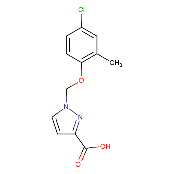 1-(4-Chloro-2-methyl-phenoxymethyl)-1 H -pyrazole-3-carboxylic acid
