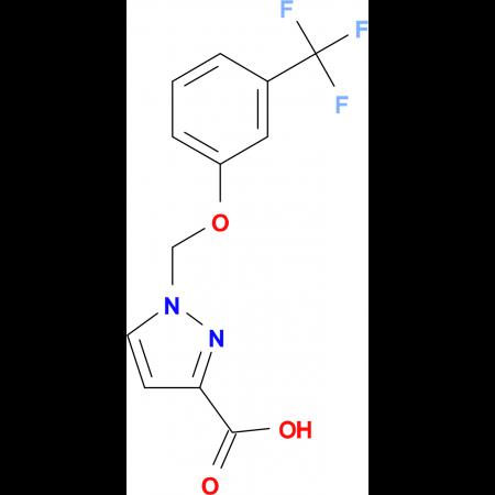 1-{[3-(Trifluoromethyl)phenoxy]methyl}-1H-pyrazole-3-carboxylic acid