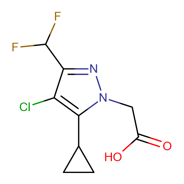 (4-Chloro-5-cyclopropyl-3-difluoromethyl-pyrazol-1-yl)-acetic acid