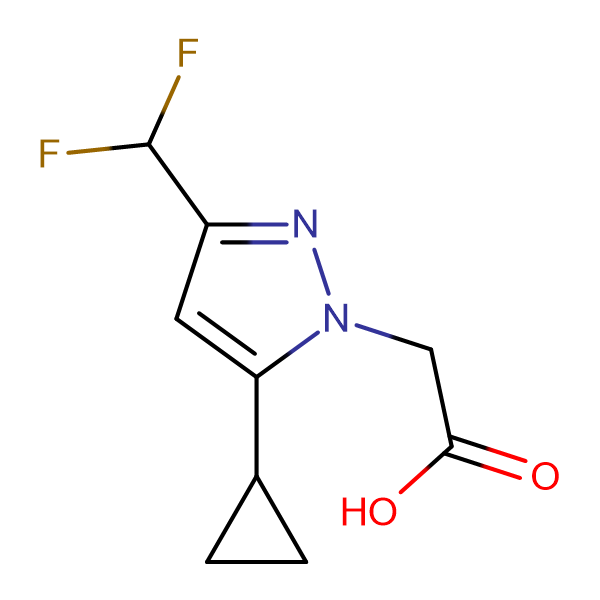 (5-Cyclopropyl-3-difluoromethyl-pyrazol-1-yl)-acetic acid